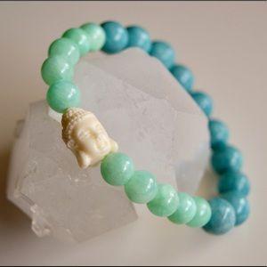 Jewelry - Real Turquoise and Quartzite Mala Bracelet